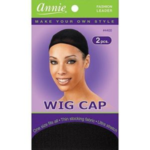 ANNIE WIG CAP 2PCS (BLACK, DARK BROWN)