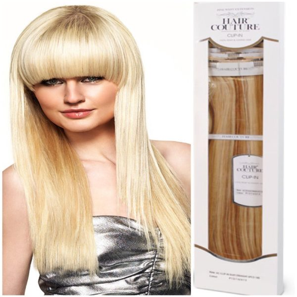 HAIR COUTURE LUXURY CLIP – IN 100% PREMIUM SYNTHETIC STYLE: HC 1 PIECEE 4 WEFT CLIP – IN