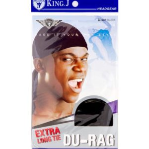 KING –J HEAD GEAR EXTRA LONG TIE DU-RAG