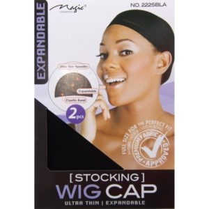 MAGIC COLLECTION STOKING WIG CAP (IN BLACK A BLONDE