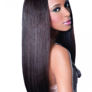REMI TOUCH BY SLEEK 100% HUMAN HAIR 7PCS WITH LACE CLOSURE NATURAL STRAIGHT 7 PCS