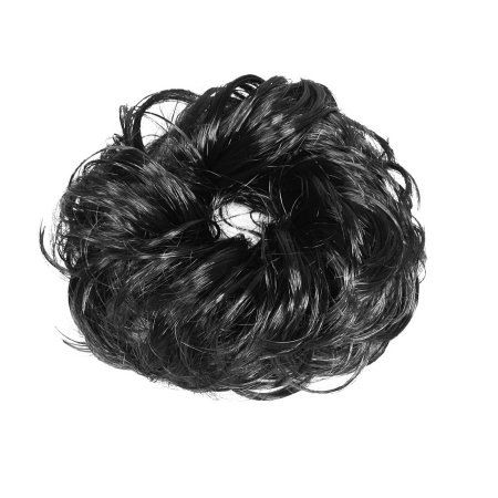 SYNTHETIC HAIR SCUNCHY (BLACK)
