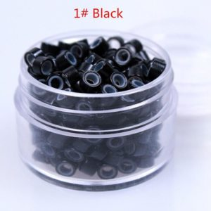 DH HAIR BEADS (BLACK, SILVER)