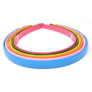 HAIR BANDS BLACK PACK OF 6 MULTICOLOUR