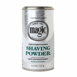 MAGIC SHAVING POWDER 4.5OZ/127G ALOE & VITAMIN E