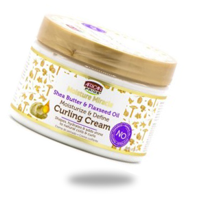 MOISTURE MIRACLE SHEA BUTTER AND FLAXSEED OIL CURLING CREAM