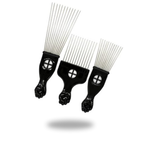 T&G COLLECTION PACK OF 3 AFRO COMB BLACK