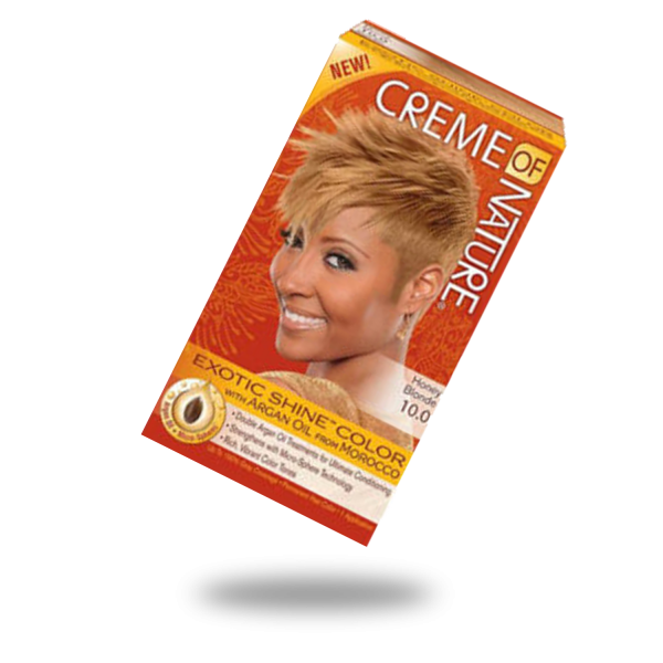 creme of nature exotic shine and color honey blonde